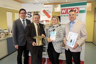 Export als Chance: WKO-Regionalstellenleiter Florian Ferl, Regionalstellenobmann Herbert Spitzer, Sandra Tanos (ICS) und BT-Watzke-Geschäftsführer Christian Stanzel.