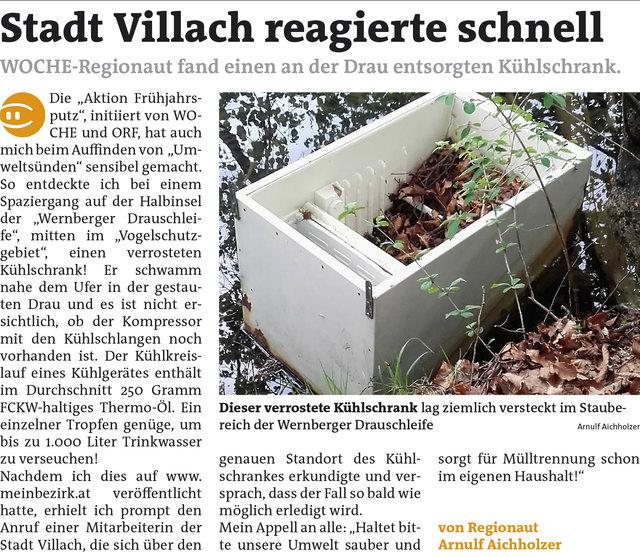WOCHE Villach KW 17 - Arnulf Aichholzer Link zum Beitrag: https://www.meinbezirk.at/2089859