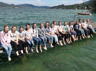 Die 20 Kinder des Chores vom Ingeborg-Bachmann-Gymnasium probten vergangene Woche bei Chortagen in Cap Wörth