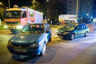Verkehrsunfall mit Menschenrettung in Linz.