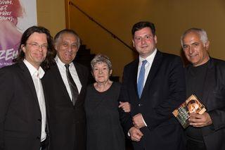 Im Bild: Alexander Syllaba, Béla Korény, Elisabeth Orth, Bürgermeister Stefan Szirucsek, StR Hans Hornyik