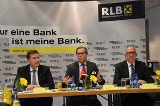Positive Bilanz: RLB Vorstände Thomas Wass, Johannes Ortner, Reinhard Mayr