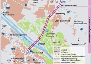 Tunnel zwischen Schwechat und Groß-Enzersdorf geplant