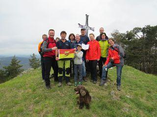 Am Kienberg angekommen hatten die Wanderer die erste Hürde geschafft und wurden mit einer atemberaubenden Aussicht belohnt.
