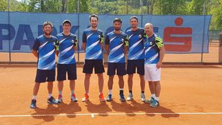 Das Oberliga-Team der Bad Ischler Tennisherren (vl): Alex Bucewicz, Philipp Gratzer, Philipp Seber, Maximilian Mann, Calin Paar und Markus Huber.
