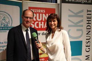 Clemens Steinwender mit Christine Radmayr.