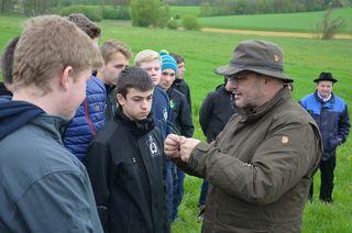Peter Frühwirth mit Schüler der LWBFS Waizenkirchen.
