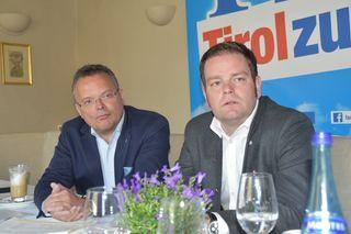 FPÖ NR Gerald Hauser und FPÖ Landeschef Markus Abwerzger