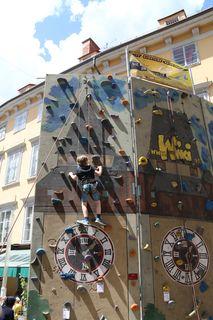 Wiki-Kletterwand, Schloßbergplatz, Schloßbergfest