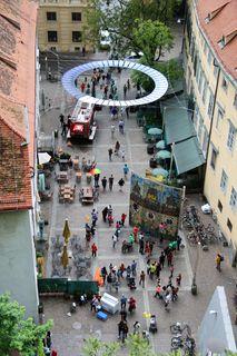 Grazer Feuerwehr unter dem Heiligenschein ;)