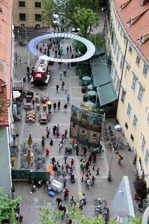 Kletterwand am Schloßbergplatz, Grazer Feuerwehr