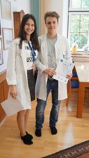 Christina Lassnig (5A-Klasse) und Markus Rupp (7A)  gewannen bei der European Union Science Olympiad (EUSO) in Kopenhagen Silber und Bronze