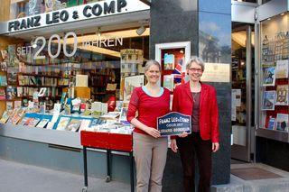 Die Buchhandlung Leo, die von den Schwestern Susanne (re.) und Ulla Remmer betrieben wird, feiert heuer ihr 200jähriges Bestehen