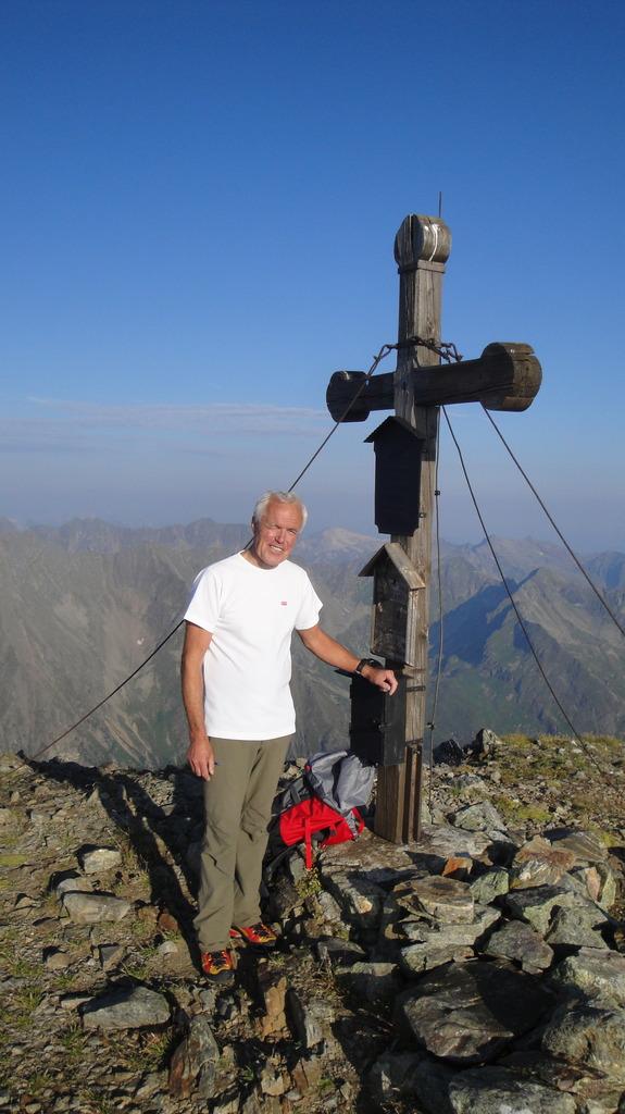 Alpenvereins-Obmann Sektion Lungau, Willi Esl, auf der Lesshöhe.