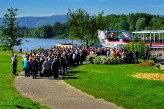 Viele Gäste nutzten das schöne Wetter für eine der ersten Fahrten der Saison.
