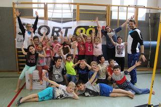 Schärdings Volksschüler testeten im Rahmen eines neuen Projektes des Sportlandes OÖ ihre Fitness.