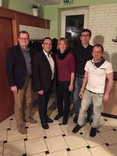 V. l.: Peter Gumpinger, August Wöginger, GR Cordula Freitag, ÖAAB Obmann Alois Mayr, Stv. Robert Brettbacher