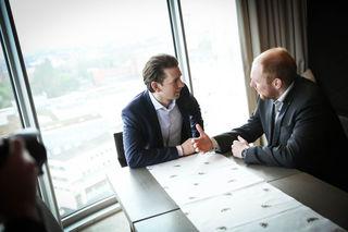 Dominik Schrott trifft sich regelmäßig mit Sebastian Kurz
