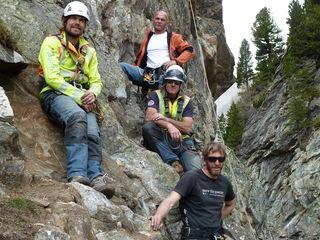 Franz Karger (ganz oben) plante den Klettersteig