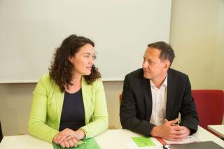 Tagung des erweiterten Bundesvorstandes der Grünen in Salzburg Foto: Neumayr/MMV 19.5.2017 Ingrid Felipe und Robert Luschnik
