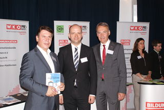Wirtschaftsexperten unter sich: WK-Regionalstellenobmann Gerald Guttmann, Politexperte Thomas Hofer und WK-Präs. Peter Nemeth