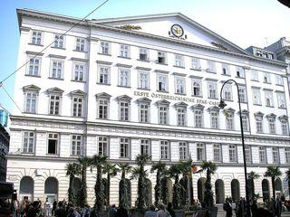 Die historische Bankfiliale befindet sich am Graben 21.
