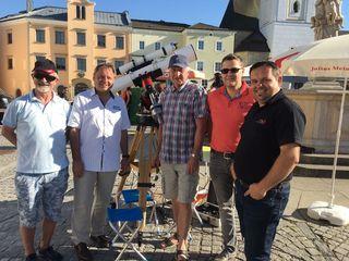 Im Bild von links Gottfried Brunner , Heribert Wagner, Franz Hofstadler, Egon Döberl und Dietmar Weinzinger
