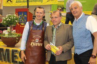 Zufrieden: Andreas Duller, Wolfgang Monai und Alexander Benedikt bei der 6. Wirtschaftsmesse Mittelkärnten