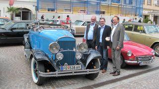 Veranstalter Hagen Petschar, Martin Kulmer und Museumsleiter Erich Kejzar