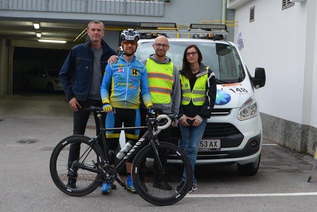 Willi Hoffmann wurde unterstützt durch den Radclub Wiesinger Held & Francke und das Unternehmen LEBAU.