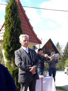 Josef Pammer leitete die Maiandacht - die Bläser Johann und Klaus Stelzer sorgten für die musikalische Umrahmung