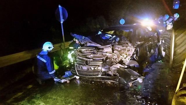 Ein Pkw hatte einen Zusammenstoß mit einem Auto
