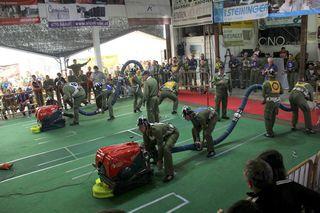 Spannender Bewerb in Pimpfing: Beim Bezirkskuppelcup traten je zwei Teams parallel gegeneinander an.