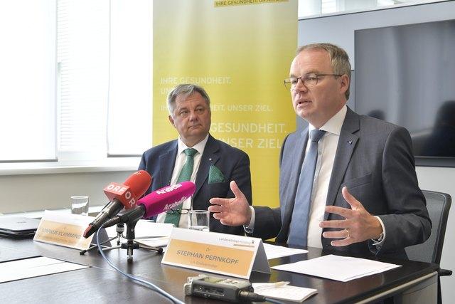 Markus Klamminger, stv. Medizinischer Geschäftsführer der NÖ Landeskliniken-Holding und LH-Stellvertreter Stephan Pernkopf.
