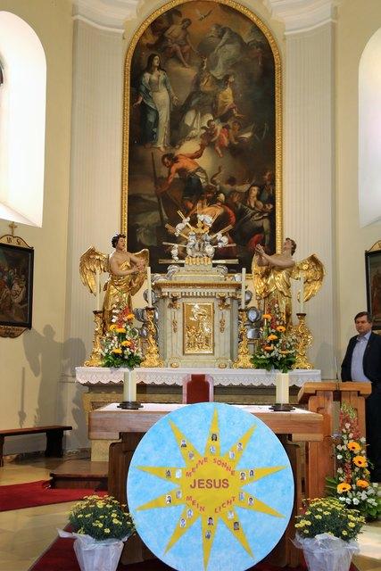 der Altar der Stadtparre Purbach