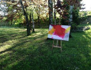 Der Garten neben den Ateliers des Kunstvereins NH10 - viel Platz für Kunst, Musik und Speis&Trank!