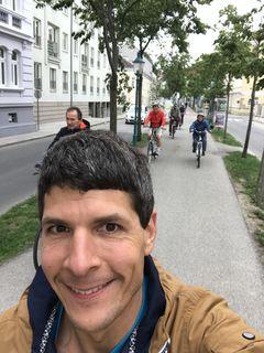 Florian Woracek mit seinen Testern