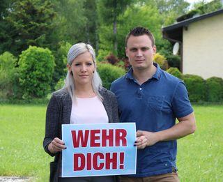 Kerstin Stoiber und FP-Bezirksparteiobmann Andreas Bors.