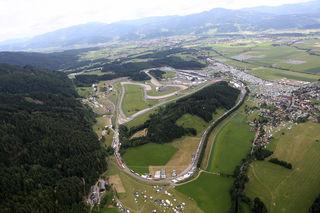 Die Westschleife (hier im Vordergrund) ist wieder Thema am Red Bull Ring. Foto: GEPA