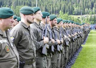 Angelobung der Rekruten in Weitensfeld
