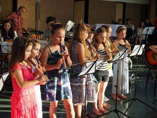 Die Kinder der Musikschule Stegersbach zeigen, was sie können.
