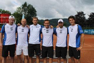 Das erfolgreiche Kirchdorfer Team:  Grega Zemlj, Marco Mirnegg, Vlado Ignatik, Max Egger, Tom Kocevar-Desman, Peter Heller (v.li.)