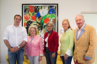 Erfolgreicher Familienbetrieb DPU: Jürgen Pischel, Marga Wagner-Pischel, Landesrätin Petra Bohuslav, Stefanie und Robert Pischel.