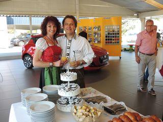 Johanna und Bernd Marko durften sich über zahlreiche Gäste bei ihrem Frühstück freuen.