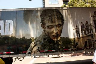 Bei den Dreharbeiten von The Walking Dead hätte es fast einen Unfall gegeben.