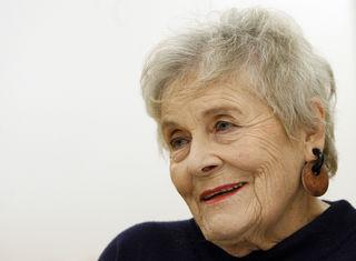 Volksschauspielerin Hilde Sochor anlässlich eines Interviews mit der APA am 19. November 2007 in Wien.
