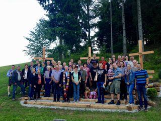 """Die """"Dorfgemeinschaft Rossegg"""" freut sich über die neue Begegnungsstätte"""