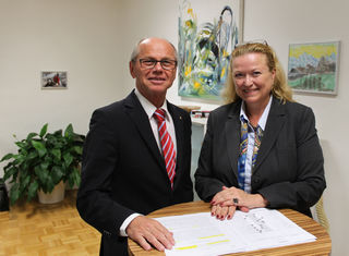 LH-Stv. Christian Stöckl mit Bettina Ganghofer.