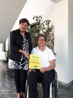 Bgm. Katharina Wolk mit Obmann Klaus Benesch