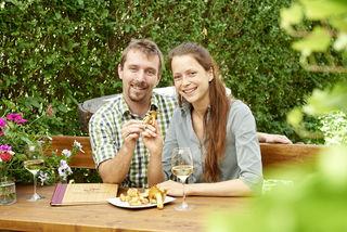Seit 2016 leiten Gloria Kaspar und Lukas Maier das Wiener Gasthaus »Zum Schwammerl«